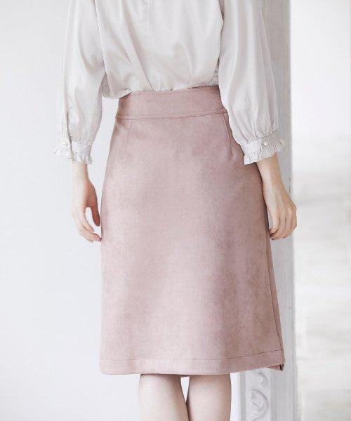 tocco closet(トッコクローゼット)/フラワービジュー付きラップタイトスカート/186132596_img03