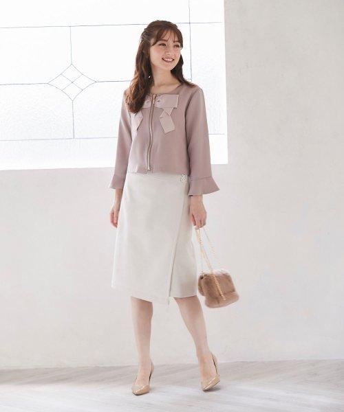 tocco closet(トッコクローゼット)/フラワービジュー付きラップタイトスカート/186132596_img04