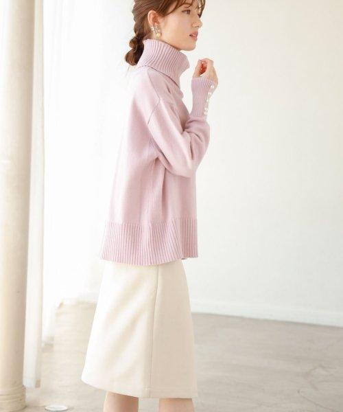 tocco closet(トッコクローゼット)/フラワービジュー付きラップタイトスカート/186132596_img06