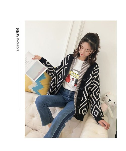 Doux Belle(ドゥーベル)/トップス カーディガン 大きいサイズ レディース ニットセーター 厚手 大人 可愛い 韓国ファッション/to-c264_img05