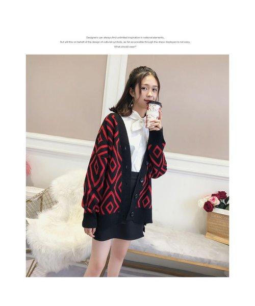 Doux Belle(ドゥーベル)/トップス カーディガン 大きいサイズ レディース ニットセーター 厚手 大人 可愛い 韓国ファッション/to-c264_img07