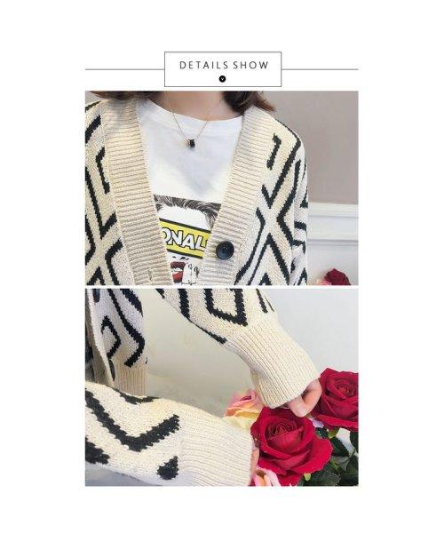 Doux Belle(ドゥーベル)/トップス カーディガン 大きいサイズ レディース ニットセーター 厚手 大人 可愛い 韓国ファッション/to-c264_img09