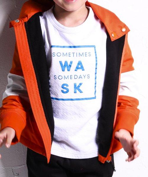WASK(ワスク)/ロゴ星プリント接結Tシャツ(110cm~130cm)/1355170355_img09