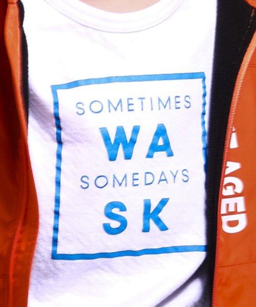 WASK(ワスク)/ロゴ星プリント接結Tシャツ(110cm~130cm)/1355170355_img10