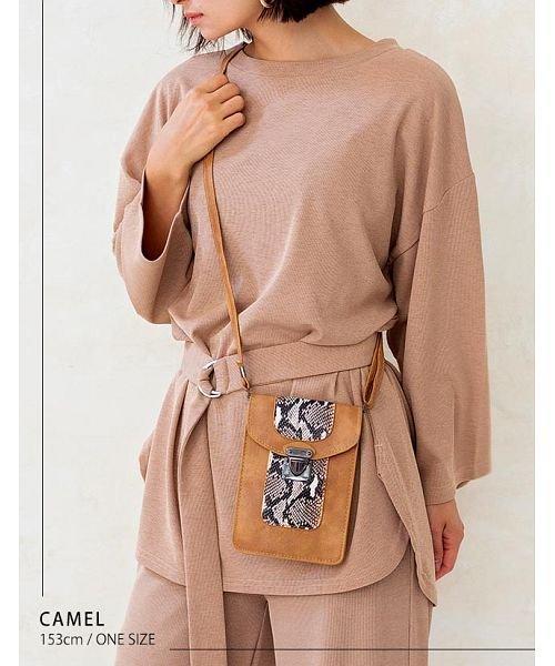GROWINGRICH(グローウィングリッチ)/[バッグ 鞄 雑貨 小物]パイソン柄縦型ショルダーポーチ[190911]印象的な小物をひとつ/190911_img02