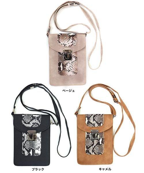 GROWINGRICH(グローウィングリッチ)/[バッグ 鞄 雑貨 小物]パイソン柄縦型ショルダーポーチ[190911]印象的な小物をひとつ/190911_img09