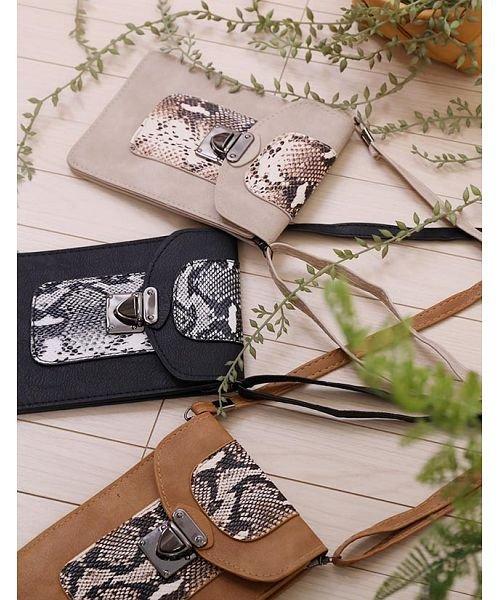 GROWINGRICH(グローウィングリッチ)/[バッグ 鞄 雑貨 小物]パイソン柄縦型ショルダーポーチ[190911]印象的な小物をひとつ/190911_img11
