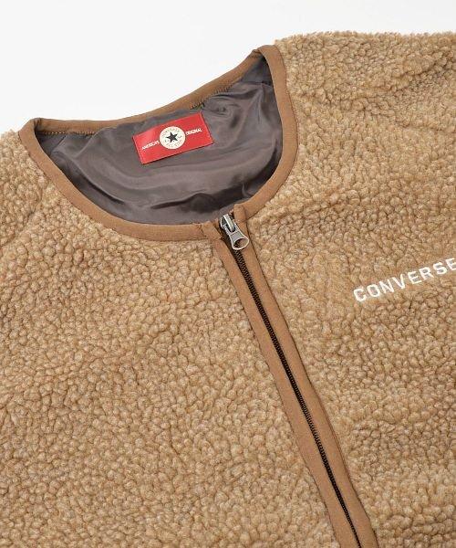 revenil(ルヴニール)/CONERSE コンバース ロゴ刺繍 シープボア ノーカラージャケット/125074_img20