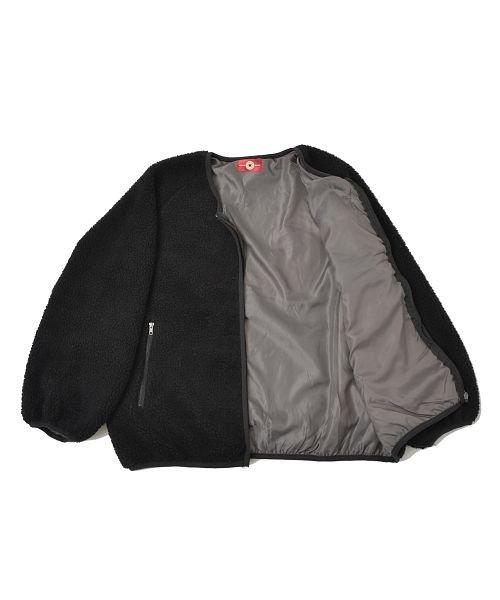 revenil(ルヴニール)/CONERSE コンバース ロゴ刺繍 シープボア ノーカラージャケット/125074_img29