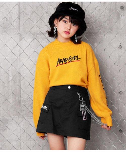ANAP GiRL(アナップガール)/チェーン付カーゴスカート/2019200026_img03