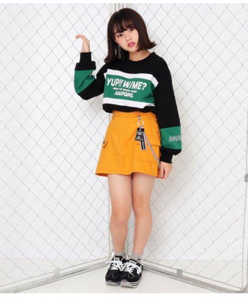 ANAP GiRL(アナップガール)/チェーン付カーゴスカート/2019200026_img08