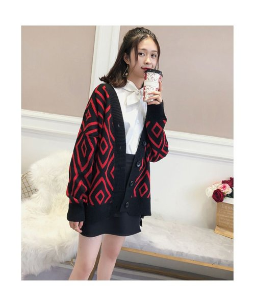 Doux Belle(ドゥーベル)/トップス カーディガン 大きいサイズ レディース ニットセーター 厚手 大人 可愛い 韓国ファッション/to-c264_img12