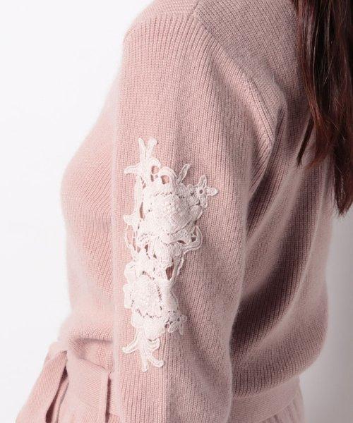 Debut de Fiore(デビュー・ド・フィオレ)/袖刺繍ニットワンピース/38191110100_img10