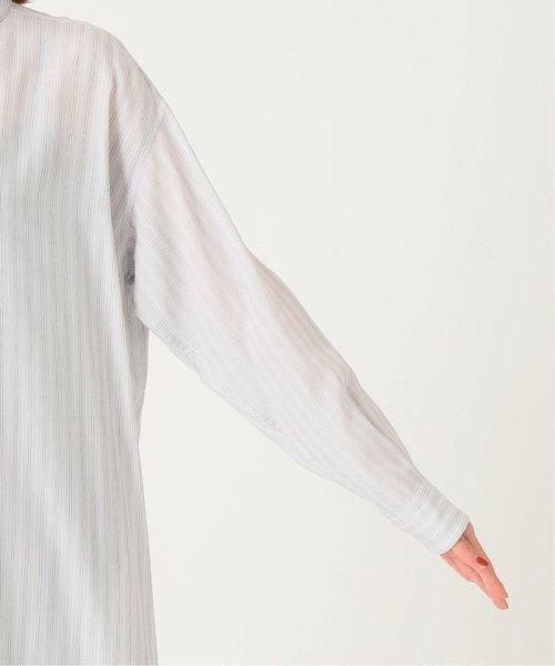 IENA(イエナ)/リヨセルストライプバンドカラーシャツワンピース◆/20040900033010_img09
