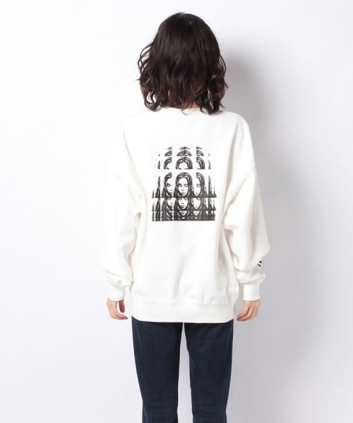 X-girl(エックスガール)/PSYCHEDELIC FACE CREW SWEAT TOP/05194202_img02