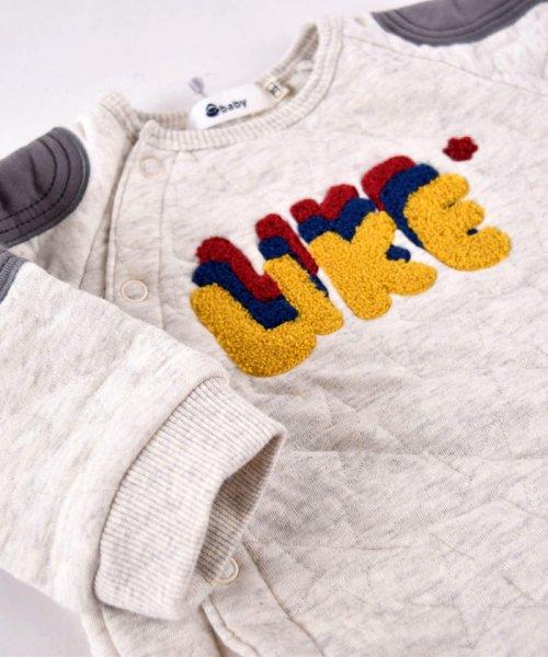 e-baby(イーベビー)/星キルト+裏毛サガラ刺繍カバーオール/183718053_img02