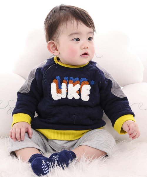 e-baby(イーベビー)/星キルト+裏毛サガラ刺繍カバーオール/183718053_img13
