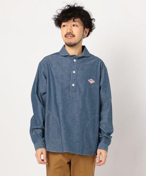 GLOSTER(GLOSTER)/【DANTON/ダントン】丸えりオックスシャツ#JD-3568 YOX/COC/0-0619-1-51-001_img01