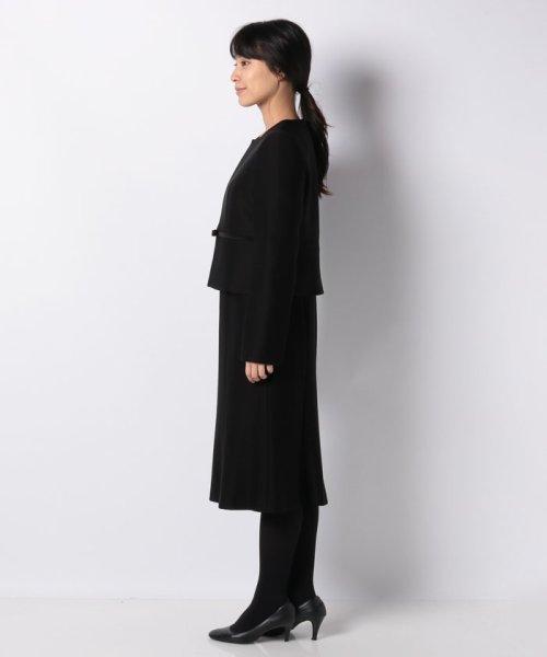 form forma(フォルムフォルマ)/ノーカラー&前開きフレアワンピース ブラックフォーマルセットアップスーツ/0603323_img23