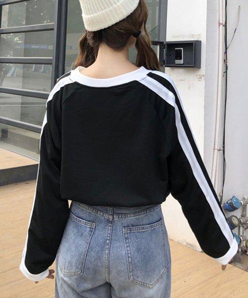 felt maglietta(フェルトマリエッタ)/袖が長めでゆるシルエットが可愛いBIGシルエット袖WラインラグランロングTシャツ/am255_img03