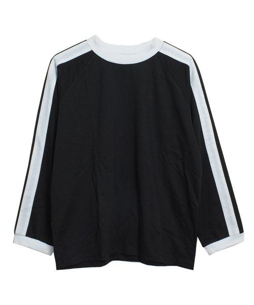 felt maglietta(フェルトマリエッタ)/袖が長めでゆるシルエットが可愛いBIGシルエット袖WラインラグランロングTシャツ/am255_img06