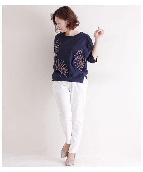 Sawa a la mode(サワアラモード)/立体的な花刺繍のドルマンスリーブトップス/mode-4927_img11