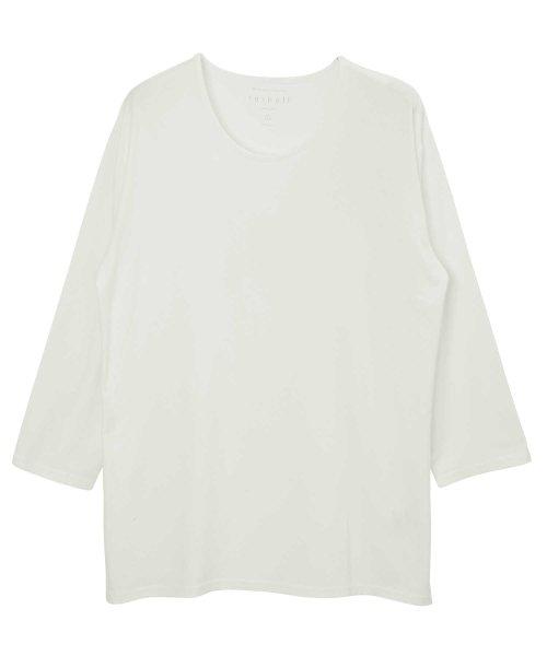 JIGGYS SHOP(ジギーズショップ)/Uネック無地7分袖Tシャツ / 七分袖 Tシャツ メンズ 無地 7分袖 uネック/204807_img02