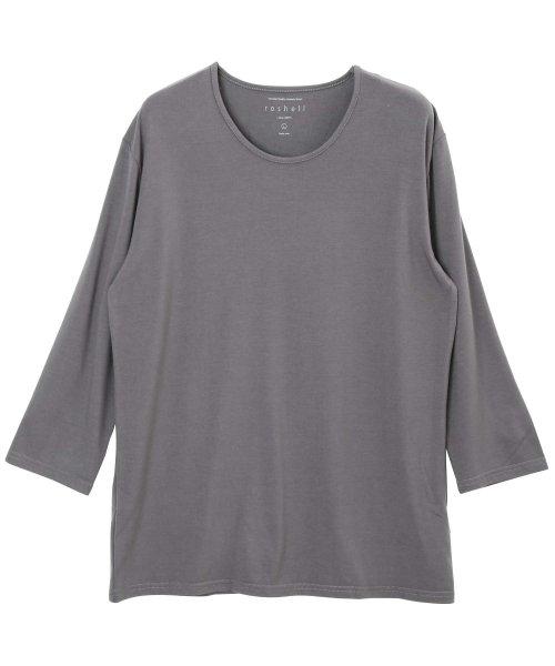 JIGGYS SHOP(ジギーズショップ)/Uネック無地7分袖Tシャツ / 七分袖 Tシャツ メンズ 無地 7分袖 uネック/204807_img04