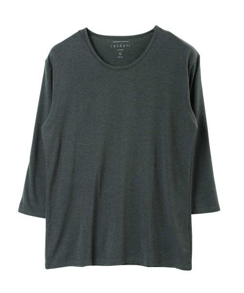 JIGGYS SHOP(ジギーズショップ)/Uネック無地7分袖Tシャツ / 七分袖 Tシャツ メンズ 無地 7分袖 uネック/204807_img06
