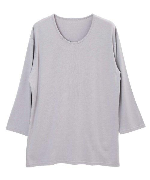 JIGGYS SHOP(ジギーズショップ)/Uネック無地7分袖Tシャツ / 七分袖 Tシャツ メンズ 無地 7分袖 uネック/204807_img14