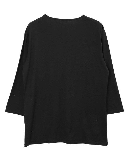 JIGGYS SHOP(ジギーズショップ)/Uネック無地7分袖Tシャツ / 七分袖 Tシャツ メンズ 無地 7分袖 uネック/204807_img15