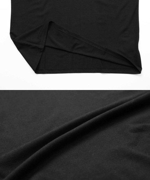 JIGGYS SHOP(ジギーズショップ)/Uネック無地7分袖Tシャツ / 七分袖 Tシャツ メンズ 無地 7分袖 uネック/204807_img17