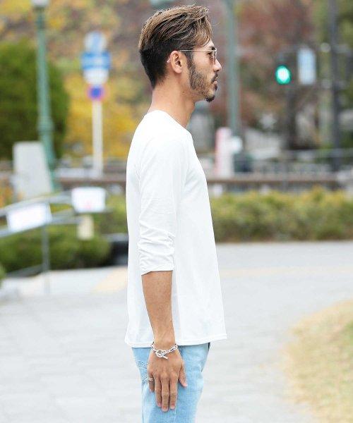 JIGGYS SHOP(ジギーズショップ)/Uネック無地7分袖Tシャツ / 七分袖 Tシャツ メンズ 無地 7分袖 uネック/204807_img19