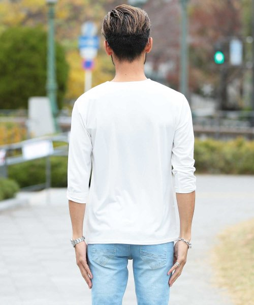 JIGGYS SHOP(ジギーズショップ)/Uネック無地7分袖Tシャツ / 七分袖 Tシャツ メンズ 無地 7分袖 uネック/204807_img20