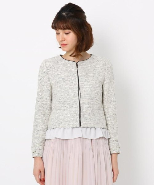 Couture Brooch(クチュールブローチ)/フリル付きノーカラージャケット/20200150848011_img01
