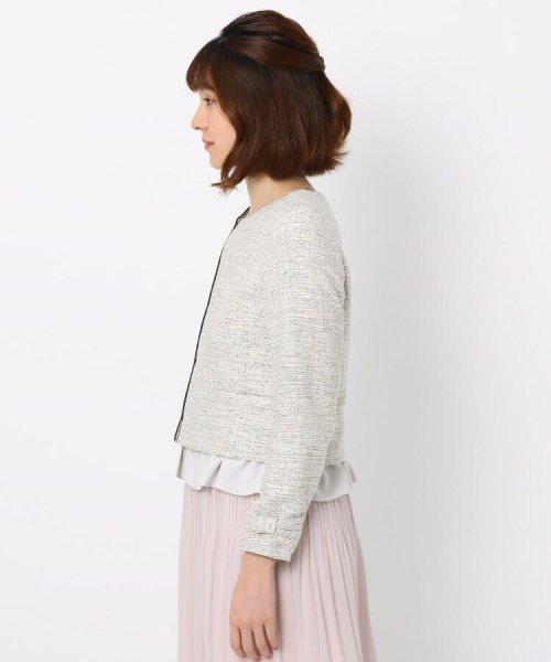 Couture Brooch(クチュールブローチ)/フリル付きノーカラージャケット/20200150848011_img02