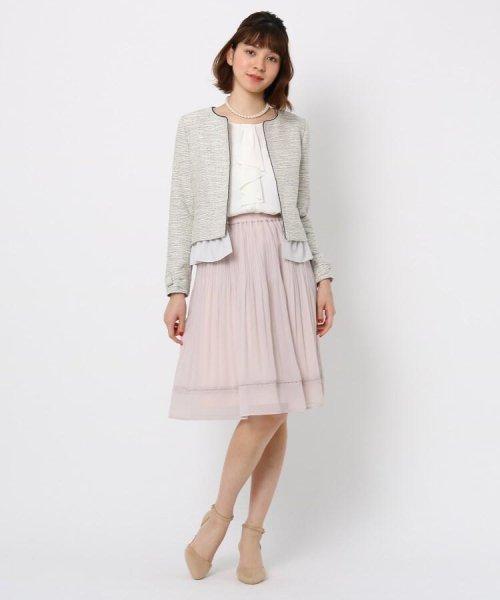 Couture Brooch(クチュールブローチ)/フリル付きノーカラージャケット/20200150848011_img10