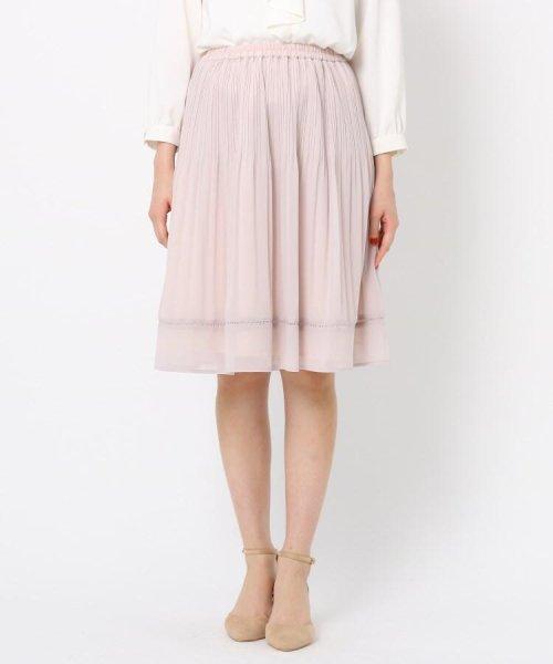 Couture Brooch(クチュールブローチ)/【WEB限定サイズ(LL)あり】プリーツジョーゼットスカート/20200150878021_img01