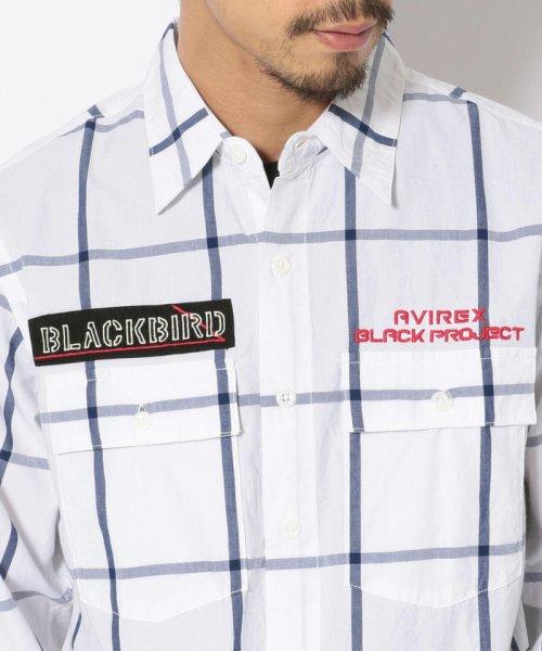 AVIREX(アヴィレックス)/シンプル チェック 刺繍シャツ ブラックバード/EMBROIDERY SHIRT BLACK BIRD /6105095-50_img05