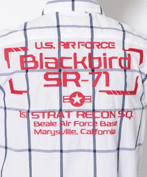 AVIREX(アヴィレックス)/シンプル チェック 刺繍シャツ ブラックバード/EMBROIDERY SHIRT BLACK BIRD /6105095-50_img06