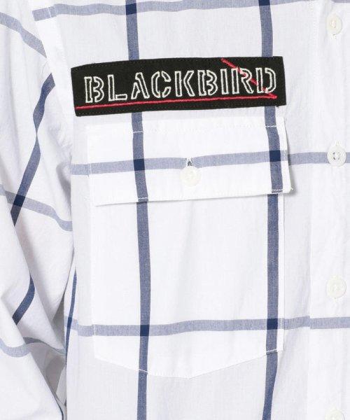 AVIREX(アヴィレックス)/シンプル チェック 刺繍シャツ ブラックバード/EMBROIDERY SHIRT BLACK BIRD /6105095-50_img09