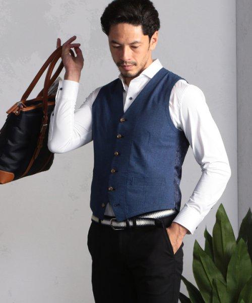 Men's Bigi(メンズビギ)/【ストレッチ/ウォッシャブル】カッタウェイビジネスシャツ/M0101FBD03_img02