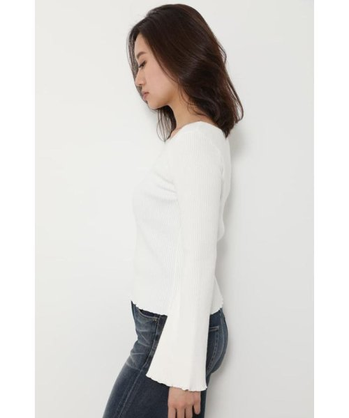 rienda(リエンダ)/Bell sleeve RIB Knit TOP/110DS670-0480_img02