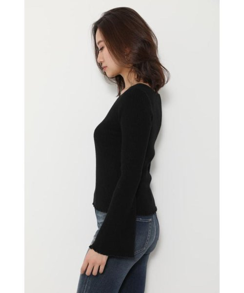 rienda(リエンダ)/Bell sleeve RIB Knit TOP/110DS670-0480_img09
