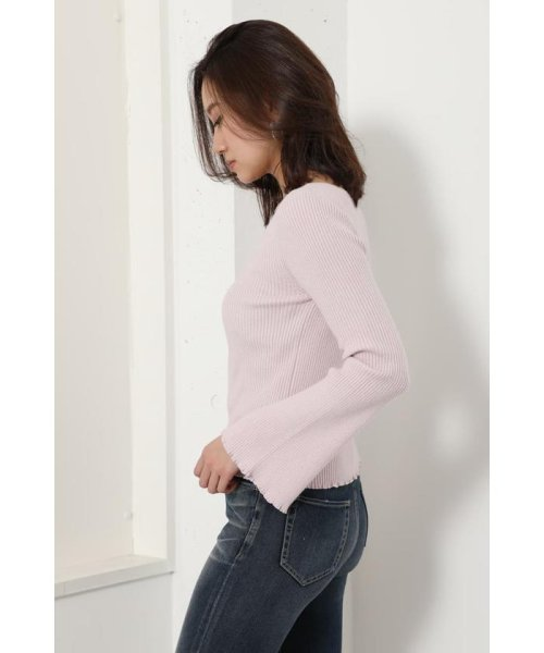 rienda(リエンダ)/Bell sleeve RIB Knit TOP/110DS670-0480_img16