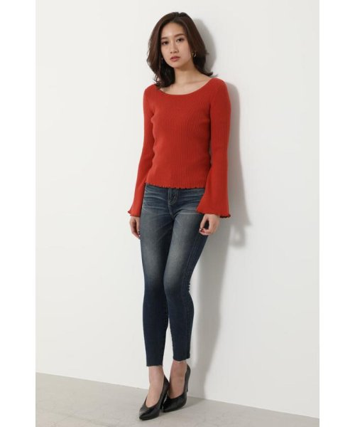 rienda(リエンダ)/Bell sleeve RIB Knit TOP/110DS670-0480_img22