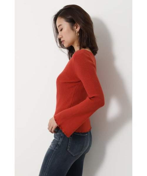 rienda(リエンダ)/Bell sleeve RIB Knit TOP/110DS670-0480_img23