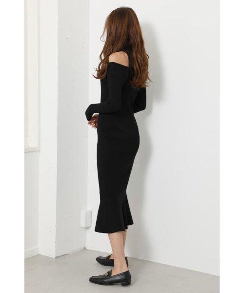 rienda(リエンダ)/Shoulder SLIT Mermaid Knit OP/110DS673-0130_img01