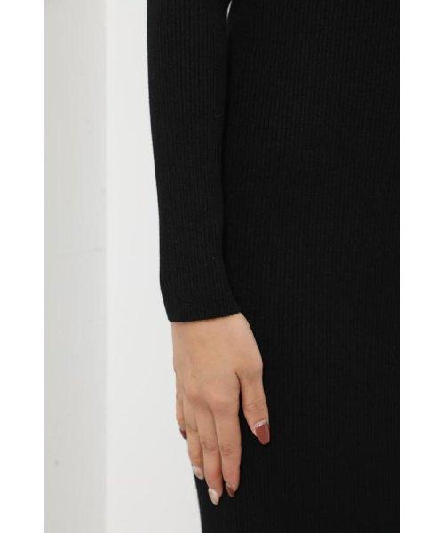rienda(リエンダ)/Shoulder SLIT Mermaid Knit OP/110DS673-0130_img06