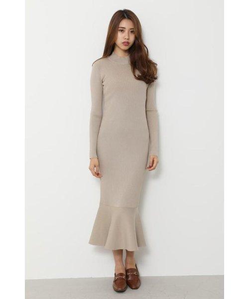 rienda(リエンダ)/Shoulder SLIT Mermaid Knit OP/110DS673-0130_img10